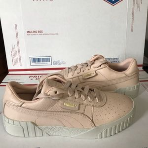 NEW Puma Cali Emboss Leather Sneakers